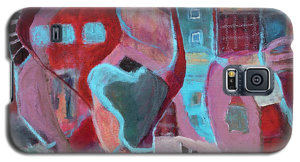 Galaxy S5 Case featuring the painting Holiday Windows by Susan Stone
