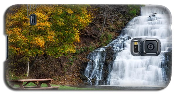Galaxy S5 Case featuring the photograph Holley Canal Falls by Mark Papke