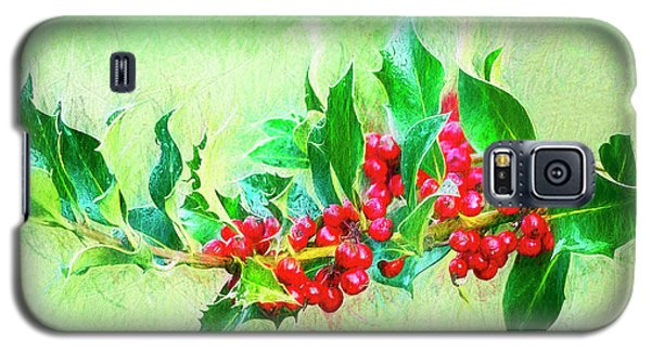 Galaxy S5 Case featuring the photograph Holly Berries Photo Art by Sharon Talson