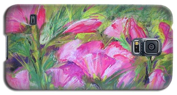 Hollyhock Breeze Galaxy S5 Case by Susan Herbst