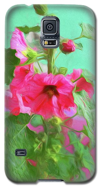 Galaxy S5 Case featuring the photograph Hollyhocks - 2  by Nikolyn McDonald