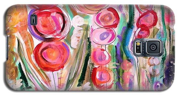 Hollyhocks Of The Garden Galaxy S5 Case by Mary Carol Williams