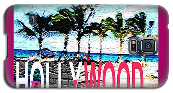Hollywood Beach Fla Poster Galaxy S5 Case by Dick Sauer