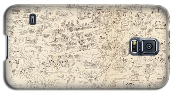 Hollywood Map To The Stars 1937 Galaxy S5 Case by Don Boggs