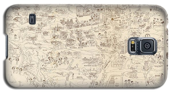 Shirley Temple Galaxy S5 Case - Hollywood Map To The Stars 1937 by Don Boggs