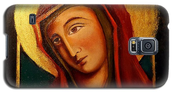Galaxy S5 Case featuring the painting Holy Mary by Irena Mohr