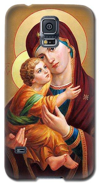 Holy Mother Of God - Blessed Virgin Mary Galaxy S5 Case by Svitozar Nenyuk