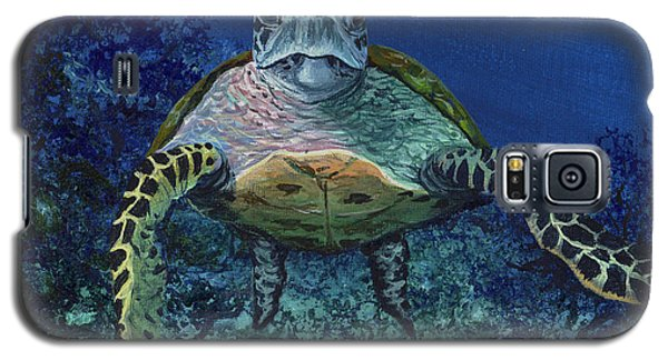 Galaxy S5 Case featuring the painting Home Of The Honu by Darice Machel McGuire