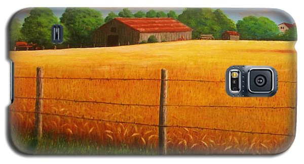 Galaxy S5 Case featuring the painting Home On The Farm by Gene Gregory