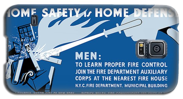 Galaxy S5 Case featuring the painting Home Safety Is Home Defense by War Is Hell Store