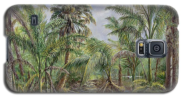 Galaxy S5 Case featuring the painting Homestead Tree Farm by AnnaJo Vahle