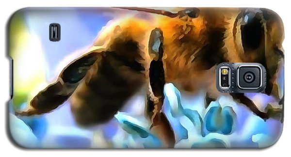 Galaxy S5 Case featuring the painting Honey Bee In Interior Design Thick Paint by Catherine Lott