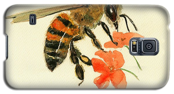 Honey Bee Watercolor Painting Galaxy S5 Case