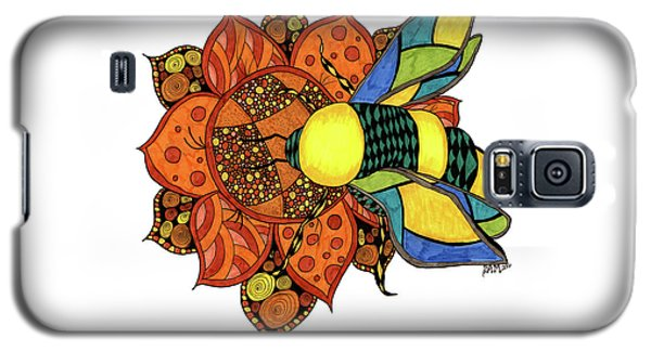 Honeybee On A Flower Galaxy S5 Case