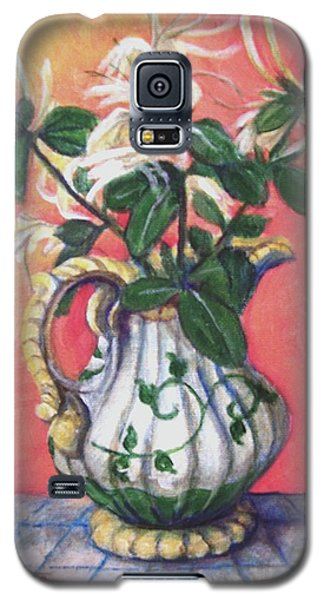 Galaxy S5 Case featuring the painting Honeysuckle by Laura Aceto