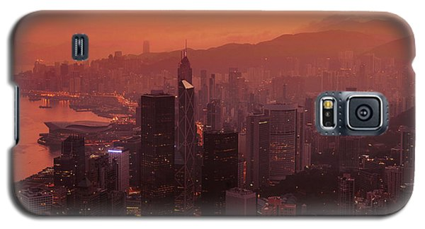 Hong Kong City View From Victoria Peak Galaxy S5 Case
