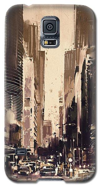 Hong-kong Cityscape Painting Galaxy S5 Case