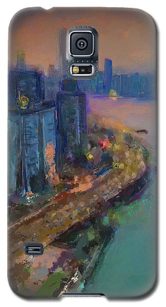 Hong Kong Skyline Painting Galaxy S5 Case