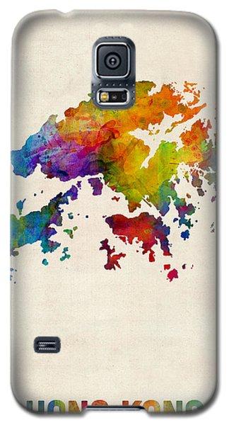 Hong Kong Watercolor Map Galaxy S5 Case by Michael Tompsett
