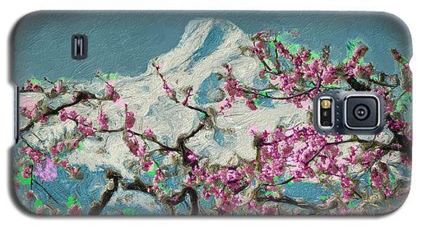 Galaxy S5 Case featuring the digital art Hood Blossoms by Dale Stillman