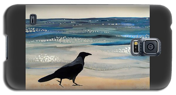 Hooded Crow At The Black Sea By Dora Hathazi Mendes Galaxy S5 Case by Dora Hathazi Mendes