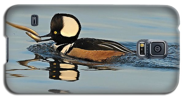 Hooded Merganser And Eel Galaxy S5 Case