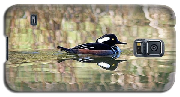 Galaxy S5 Case featuring the photograph Hooded Merganser by Elizabeth Budd