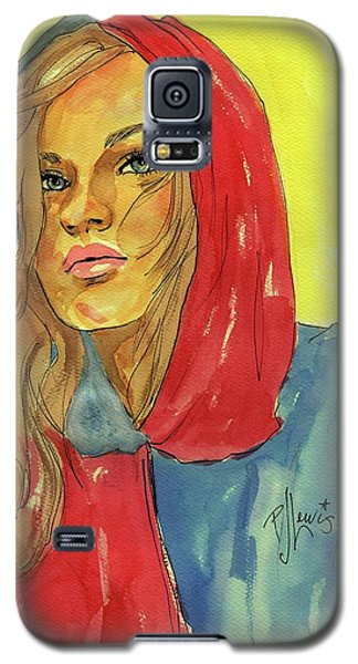 Galaxy S5 Case featuring the painting Hoody by P J Lewis