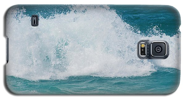 Galaxy S5 Case featuring the photograph Hookipa Splash Waves Beach Break Shore Break Pacific Ocean Maui  by Sharon Mau