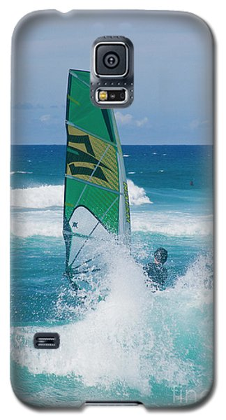 Galaxy S5 Case featuring the photograph Hookipa Windsurfing North Shore Maui Hawaii by Sharon Mau