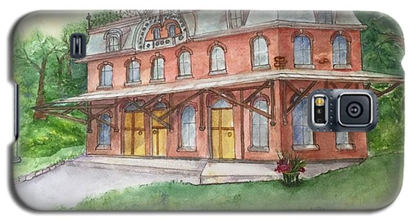 Galaxy S5 Case featuring the painting Hopewell Nj Train Station by Lucia Grilletto