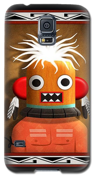 Galaxy S5 Case featuring the digital art Hopi Indian Kachina by John Wills