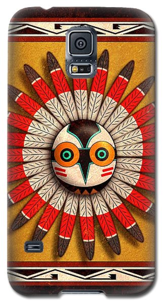 Galaxy S5 Case featuring the digital art Hopi Owl Mask by John Wills