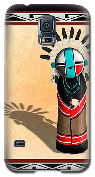 Hopi Sun Face Kachina Galaxy S5 Case by John Wills