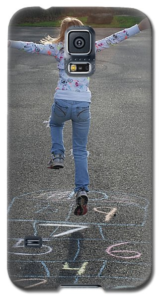 Galaxy S5 Case featuring the photograph Hopscotch Queen by Richard Bryce and Family