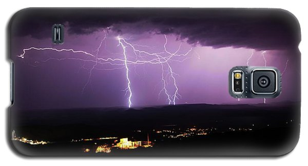 Horizontal And Vertical Lightning Galaxy S5 Case