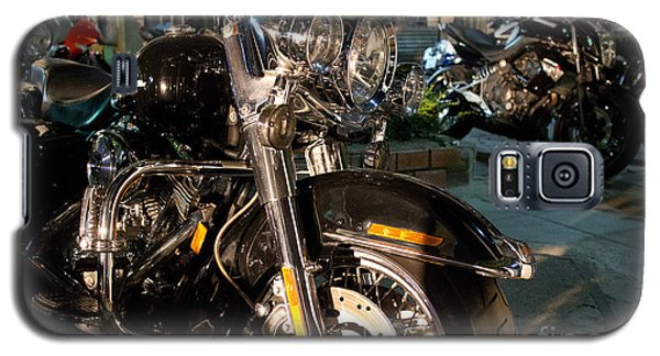 Horizontal Front View Of Fat Cruiser Motorcycle With Chrome Fork Galaxy S5 Case