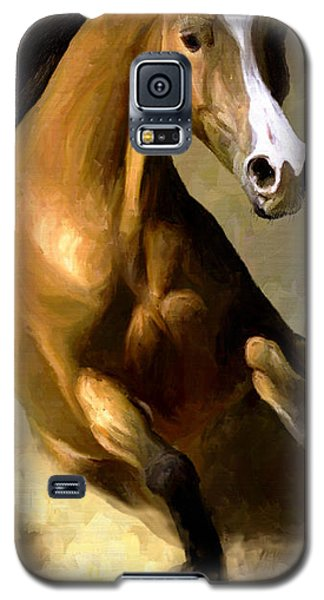 Galaxy S5 Case featuring the painting Horse Agility by James Shepherd