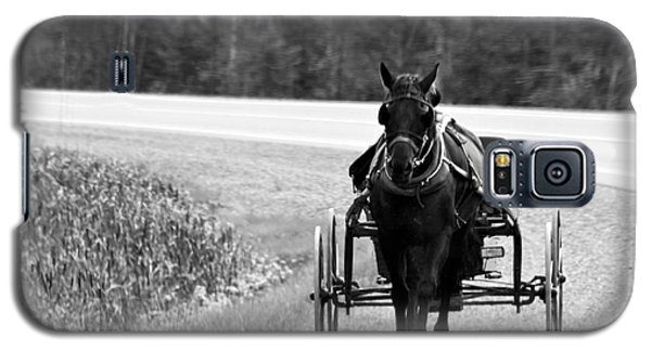 Galaxy S5 Case featuring the photograph Horse And Buggy by Marjorie Imbeau