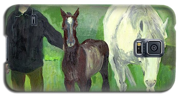 Horse And Foal Galaxy S5 Case