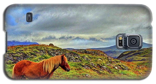 Galaxy S5 Case featuring the photograph Horse And Mountains by Scott Mahon