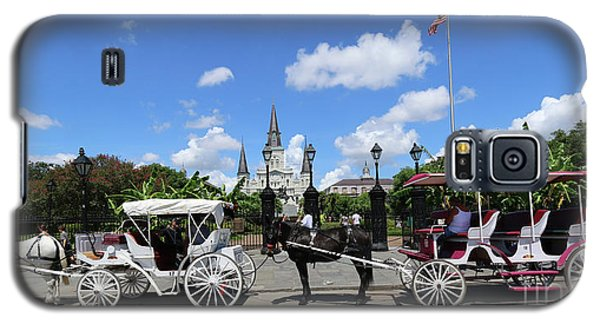 Galaxy S5 Case featuring the photograph Horse Carriages by Steven Spak