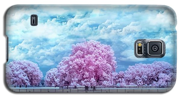 Galaxy S5 Case featuring the photograph Horse Country In Pink by Louis Ferreira
