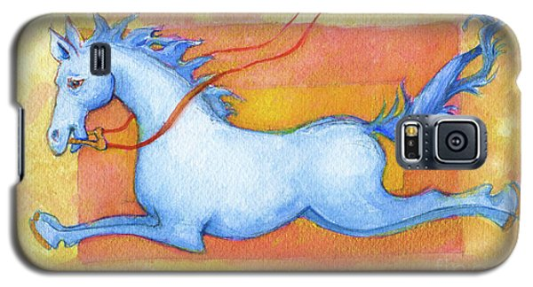 Horse Detail From H Medieval Alphabet Print Galaxy S5 Case