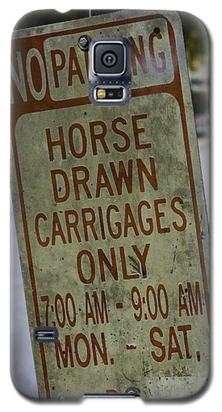 Horse Drawn Carriage Parking Galaxy S5 Case