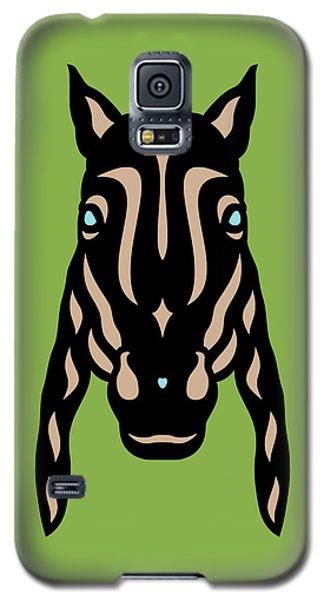 Horse Face Rick - Horse Pop Art - Greenery, Hazelnut, Island Paradise Blue Galaxy S5 Case