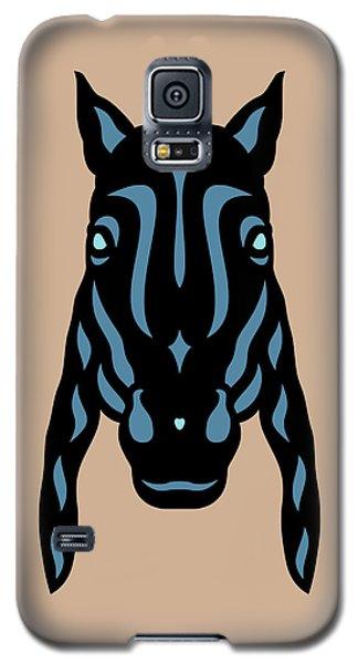 Horse Face Rick - Horse Pop Art - Hazelnut, Niagara Blue, Island Paradise Blue Galaxy S5 Case