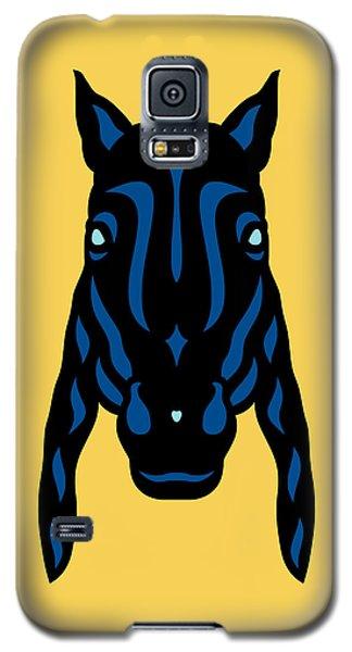 Horse Face Rick - Horse Pop Art - Primrose Yellow, Lapis Blue, Island Paradise Blue Galaxy S5 Case