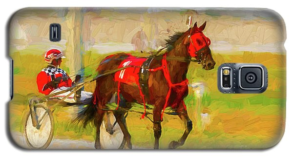 Horse, Harness And Jockey Galaxy S5 Case by Les Palenik