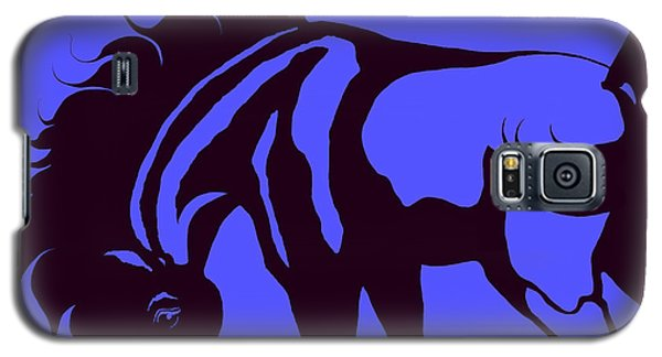 Horse In Blue And Black Galaxy S5 Case